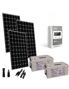 Kit solaire Pro 900W 24V Europèen Regulateur 40A MPPT Batterie 165Ah