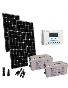 Solar Kit Pro 900W 24V Solar Panel Charge Regulator 45A PWM Batterie 165Ah