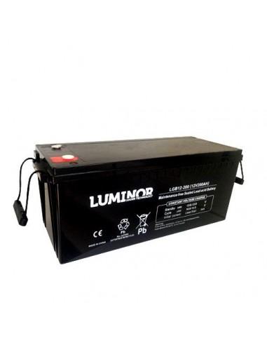 batterie agm 12v 200ah luminor vehicules electriques. Black Bedroom Furniture Sets. Home Design Ideas