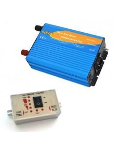Convertisseur 600W 12V onde pure + Commande à distance 1200W AC 230V solaire