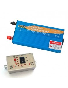 Power Inverter 1000W 12V Onda Pura + Controllo remoto MAX 2000W AC 230V Solare