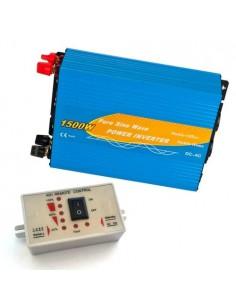 Power Inverter 1500W 12V Onda Pura + Controllo remoto MAX 3000W AC 230V Solare