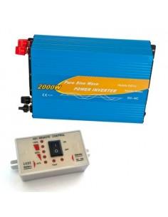 Power Inverter 2000W 12V Onda Pura + Controllo remoto MAX 4000W AC 230V Solare