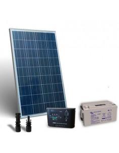Kit Solare Pro 80W 12V Pannello Fotovoltaico Regolatore 10A PWM Batteria 38Ah