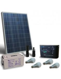 Kit d'éclairage solaire LED 80W 12V pour Intérieur Photovoltaique Batterie 38Ah