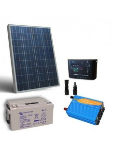 Kit solare baita 80W 12V Pro pannello regolatore inverter batteria 38Ah